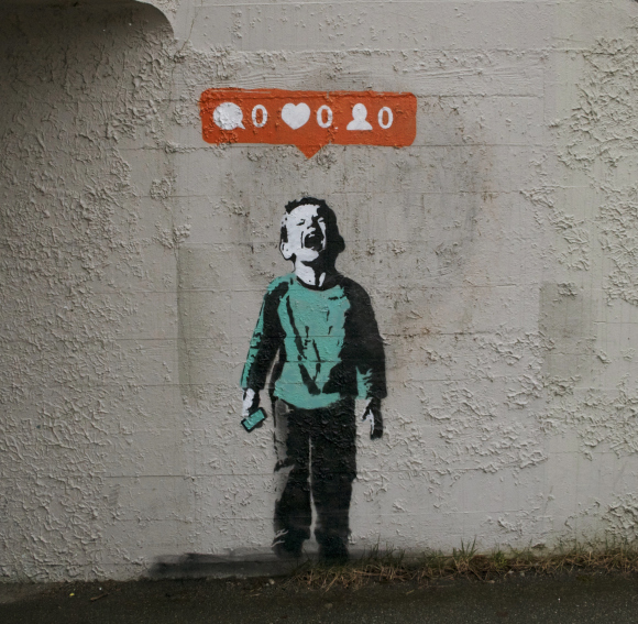 """Nobody Likes You"" (2014) by I Heart the Street Art"