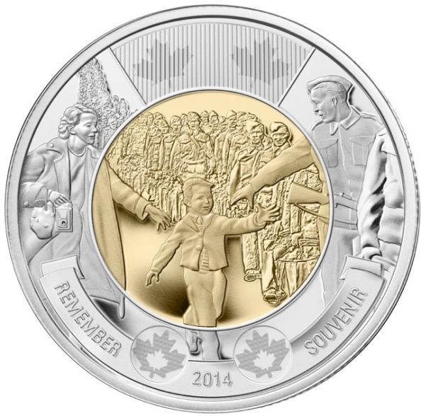 The Royal Canadian Mint has struck a new $2 coin commemorating the original event (click image for more info)